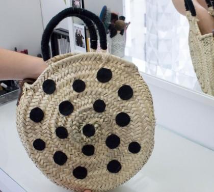 DIY Custo : Décorer un sac rond en osier