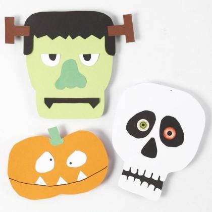 DIY facile : Faire des formes d'Halloween en papier