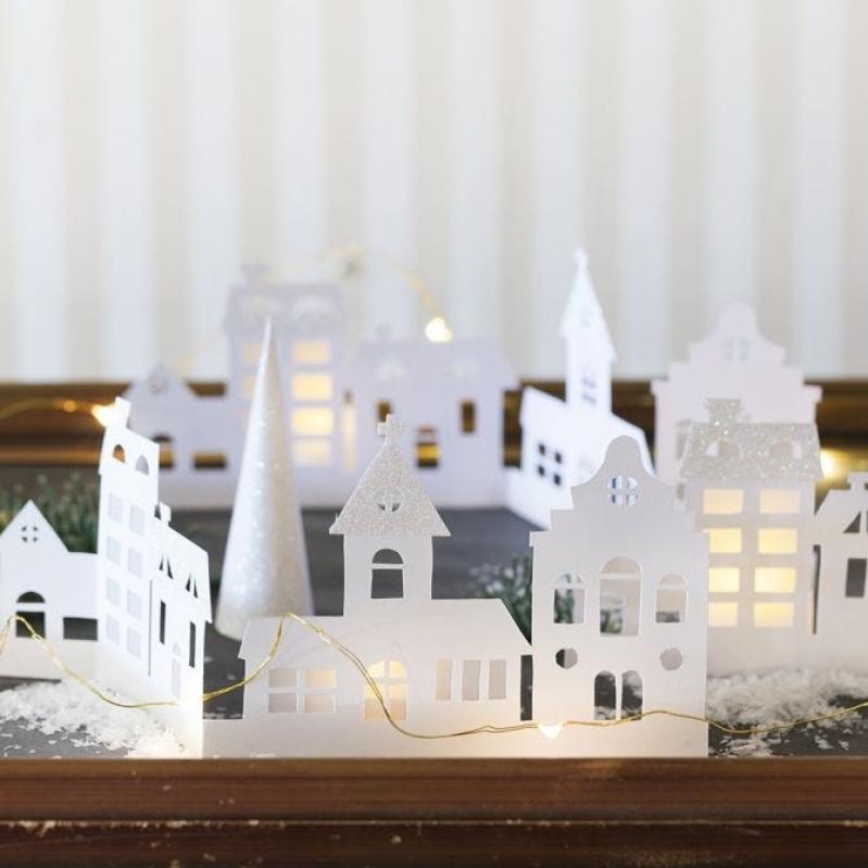 DIY : Fabriquer un village de Noël en papier   Idées conseils et