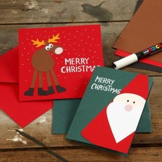Étonnant DIY : Carte de voeux Père Noël - Idées conseils et tuto Carterie EF-03