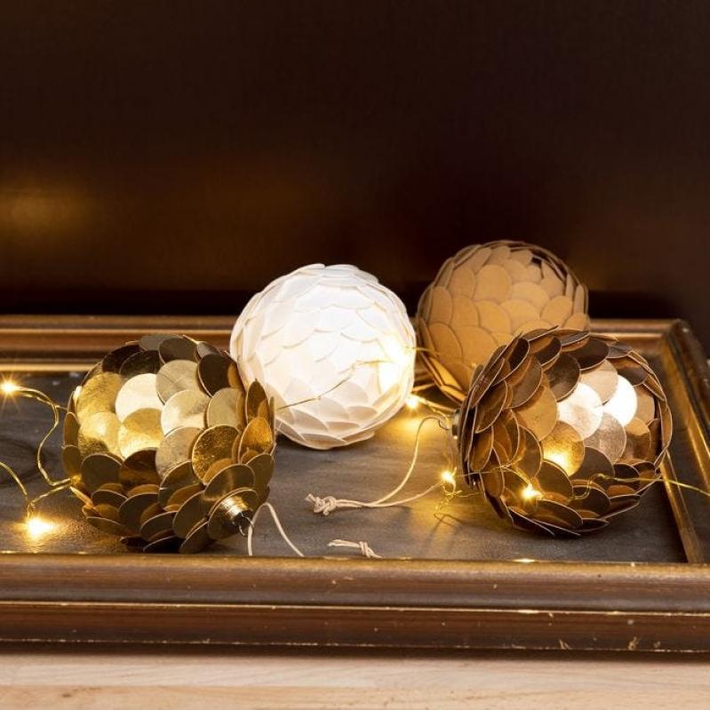 DIY : Fabriquer des boules de Noël pomme de pin   Idées conseils