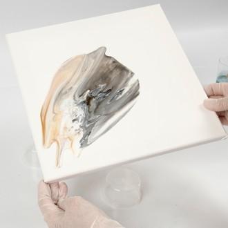 5. Etape 4 : Effet pouring art sur toile