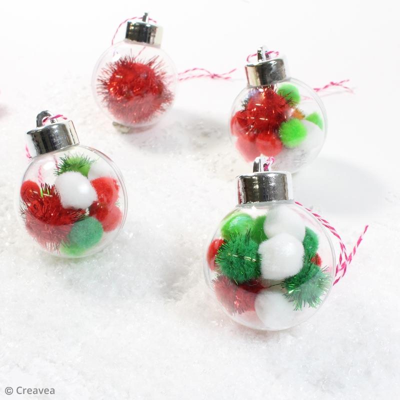 DIY : Faire des boules de Noël à pompons faciles   Idées conseils