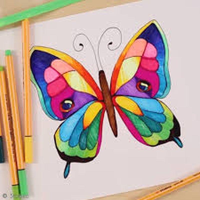 Tuto Video Apprendre A Dessiner Un Papillon Idees Conseils Et Tuto Beaux Arts Dessin