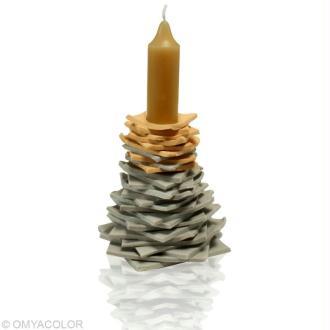 Fabriquer un bougeoir de Noel en forme de sapin