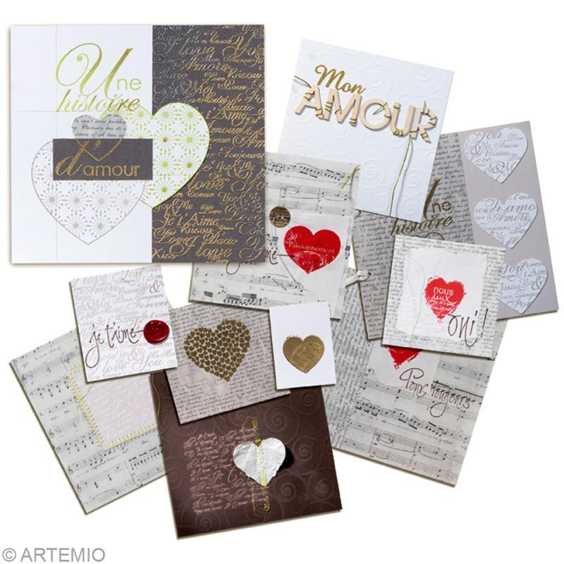 faire une carte de saint valentin moderne id es conseils et tuto saint valentin. Black Bedroom Furniture Sets. Home Design Ideas