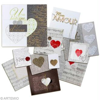 Faire une carte de Saint Valentin moderne