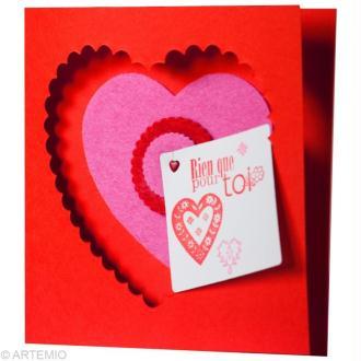 4 idées de cartes Saint Valentin