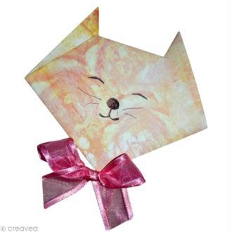 Tête de chat en origami