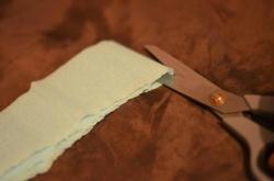 3. Découpage du papier crépon 2/2