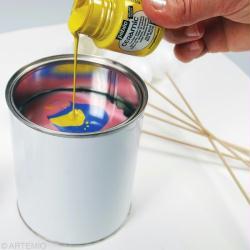2. Préparer la peinture marbrée