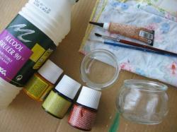 photophore en peinture sur verre id es conseils et tuto peinture multi supports. Black Bedroom Furniture Sets. Home Design Ideas