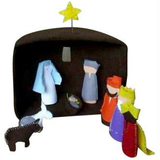 Crèche de Noël en feutrine