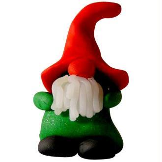 Lutin de Noël au grand chapeau en fimo