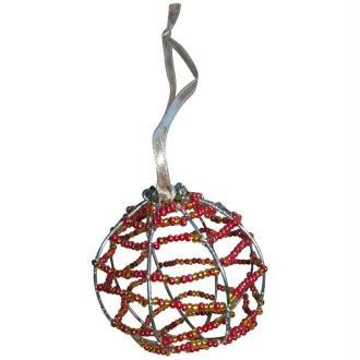 Boule de Noël en perles de rocailles