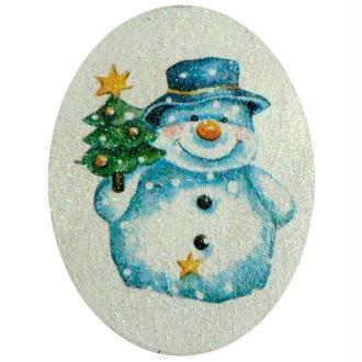 Boite en copeau bonhomme de neige