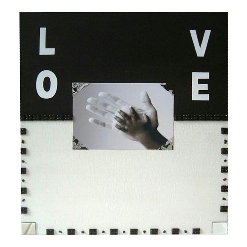 L 39 amour en noir et blanc dans un tableau de home d co for Tuto tableau home deco