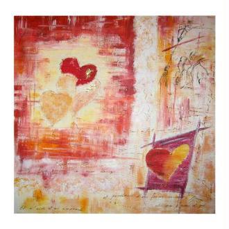 L'amour dans un tableau home déco à l'encre de chine