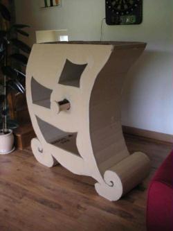 fabriquer un meuble en carton id es conseils et tuto meuble en carton. Black Bedroom Furniture Sets. Home Design Ideas
