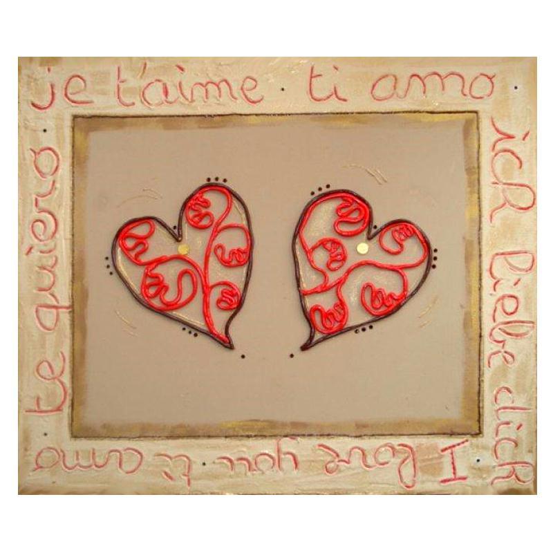 Tableau home d co ti amo pour la saint valentin id es for Tuto tableau home deco