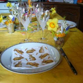 Déco cadeau pour table de Pâques