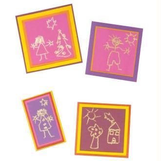 Carte enfant réalisée avec les feutres à embosser