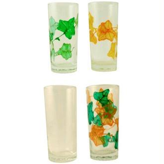 Carafe et verres : service d'été en window color