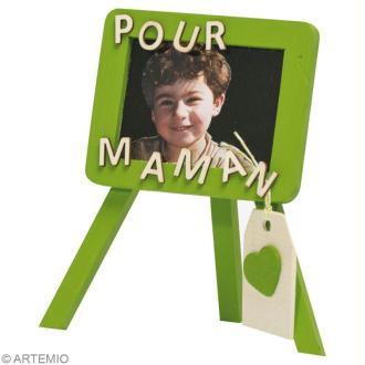 Bricolage fête des mères : mini tableaux  photos et ardoise message