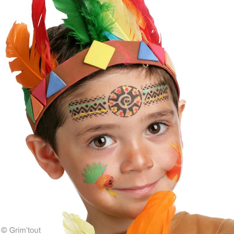 Bien connu Maquillage indien garçon : tuto simple en vidéo - Idées conseils  NU98