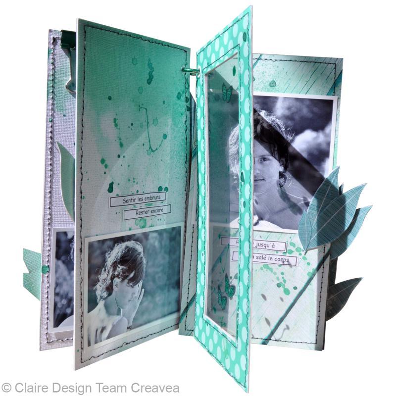 tuto mini album scrap avec encres izink id es conseils et tuto scrapbooking. Black Bedroom Furniture Sets. Home Design Ideas