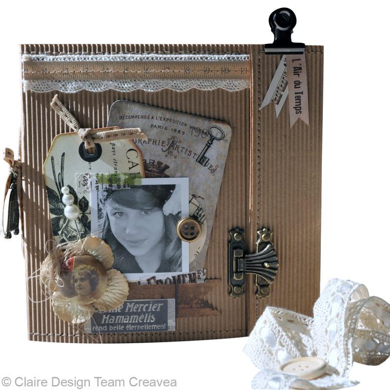 tuto d 39 un mini album avec la collection vintage de toga. Black Bedroom Furniture Sets. Home Design Ideas