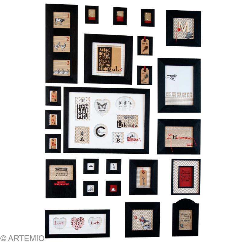 cr er un mur de cadres id es conseils et tuto home d co cadre tableau. Black Bedroom Furniture Sets. Home Design Ideas