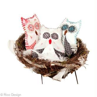 Tuto patchwork : décorer un doudou chouette