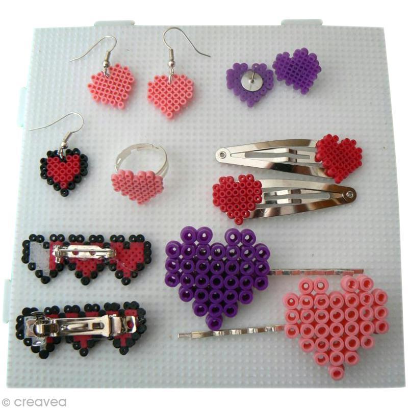 Tutoriel pour cr er des bijoux en perles hama id es conseils et tuto perles repasser hama - Model perle a repasser ...