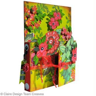 Projet scrapbooking 3d : album fleuri