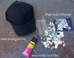 1. Le materiel pour customiser la casquette