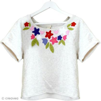 customiser un t shirt avec de la feutrine id es conseils et tuto customisation. Black Bedroom Furniture Sets. Home Design Ideas
