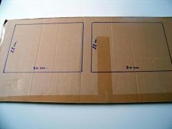 Tuto fabriquer un cadre en carton id es conseils et - Fabriquer un cadre pour tableau ...