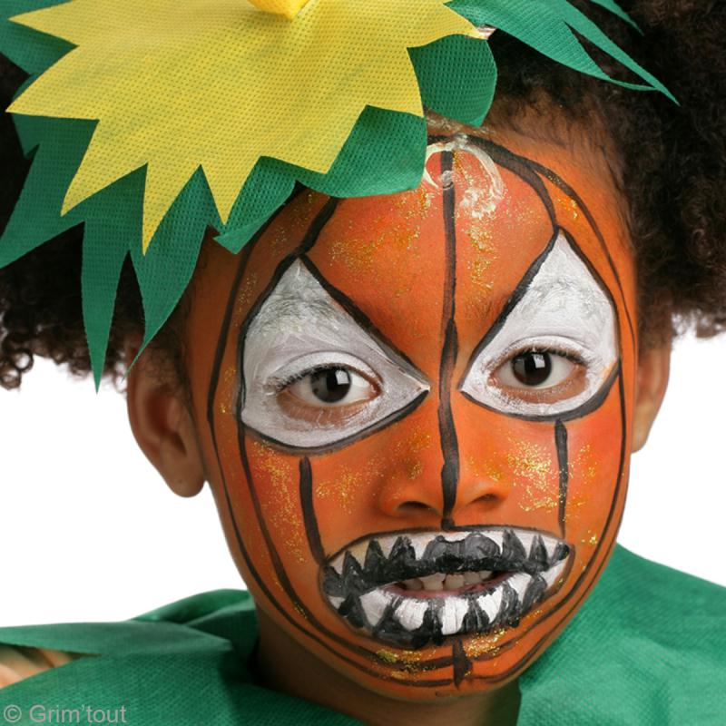 Maquillage D 39 Halloween Citrouille D Moniaque Id Es Conseils Et Tuto Maquillage