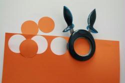 2. Etape 1 : Découper les cercles pour faire les citrouilles