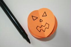 5. Etape 4 : Dessiner le visage de votre citrouille d'Halloween