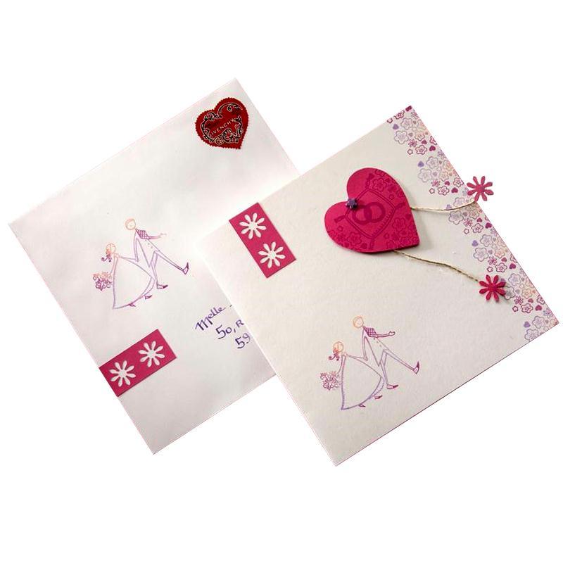Faire Part Mariage Coeur Rose Idées Conseils Et Tuto Faire