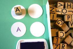 3. Tampons alphabet