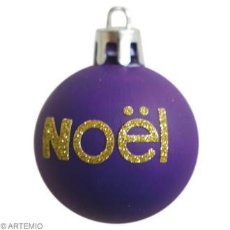 Boules de Noël personnalisées avec feutrine et paillettes