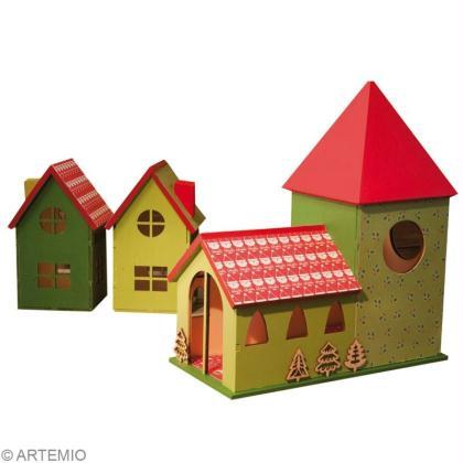 fabriquer un village de no l miniature id es conseils et tuto no l. Black Bedroom Furniture Sets. Home Design Ideas