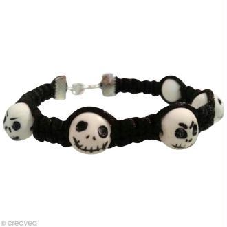 Tuto : Fabriquer un bracelet tête de mort Jack Skellington