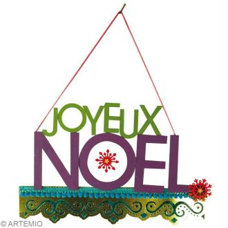 Décoration de Noël : Fabriquer une suspension Joyeux Noel