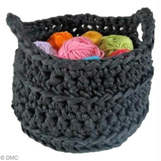 Tuto Zpagetti Hoooked : Corbeille au crochet