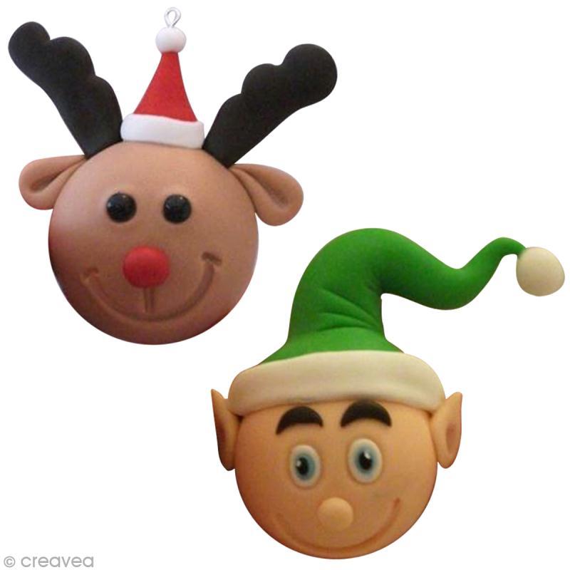 Boules de Noël : Modelage en porcelaine froide Fox   Idées