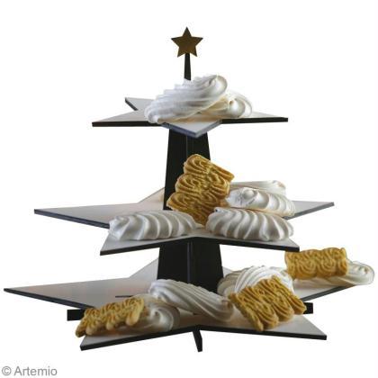 D coration de table de no l noir or et blanc suite for Decoration table noir et blanc